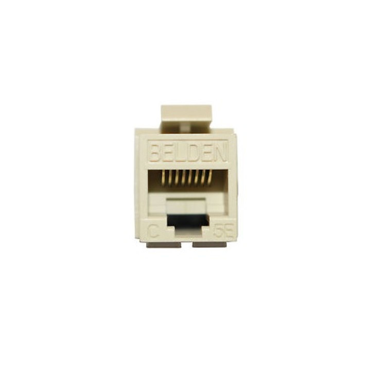 hight resolution of belden ax103079 keyconnect style modular jack cat5e rj45 module keystone mount 1 port plastic ivory state electric