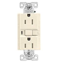 cooper wiring trafci15v duplex tamper resistant afci receptacle 125 vac 15 a 2 poles 3 wires ivory [ 1500 x 1500 Pixel ]