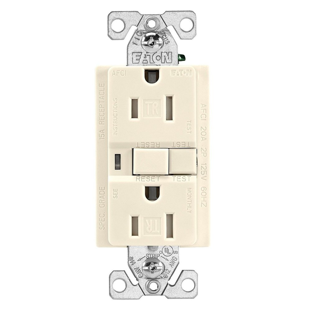 medium resolution of cooper wiring trafci15v duplex tamper resistant afci receptacle 125 vac 15 a 2 poles 3 wires ivory