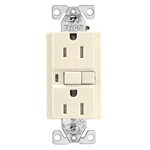 small resolution of cooper wiring trafci15v duplex tamper resistant afci receptacle 125 vac 15 a 2 poles 3 wires ivory