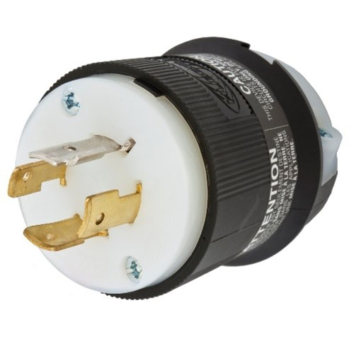 small resolution of wiring device kellems twist lock insulgrip hbl2451 3 phase non grounding male standard locking plug 277 480 vac 20 a 4 poles 4 wires black white