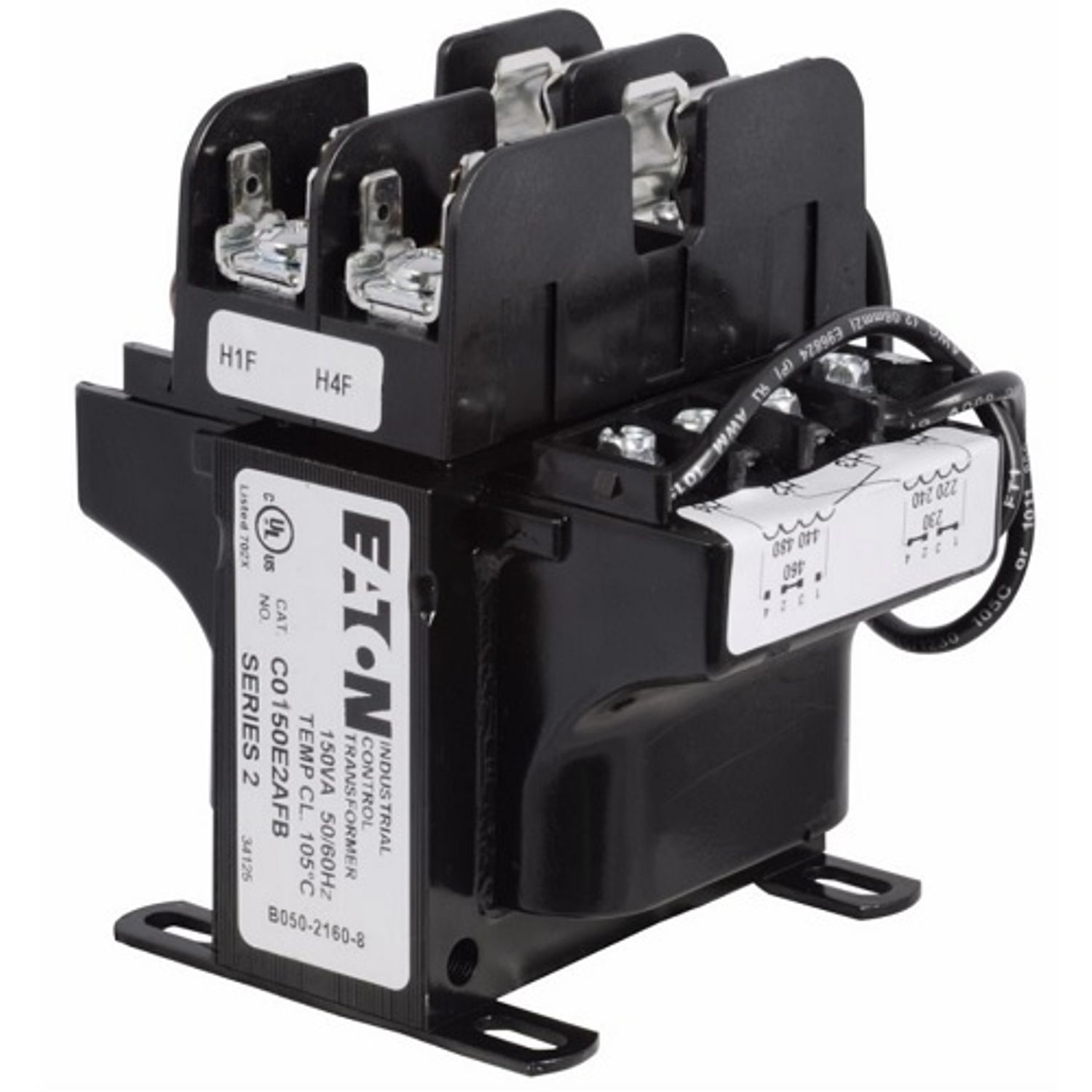 hight resolution of cutler hammer c0150e2afb industrial mte control transformer with primary fuse block 240 480 230 460 220 440 vac primary 120 115 110 v secondary 150 va