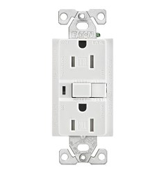 eaton wiring devices trafci15w duplex tamper resistant afci receptacle 125 vac 15 a 2 poles 3 wires white [ 1500 x 1500 Pixel ]