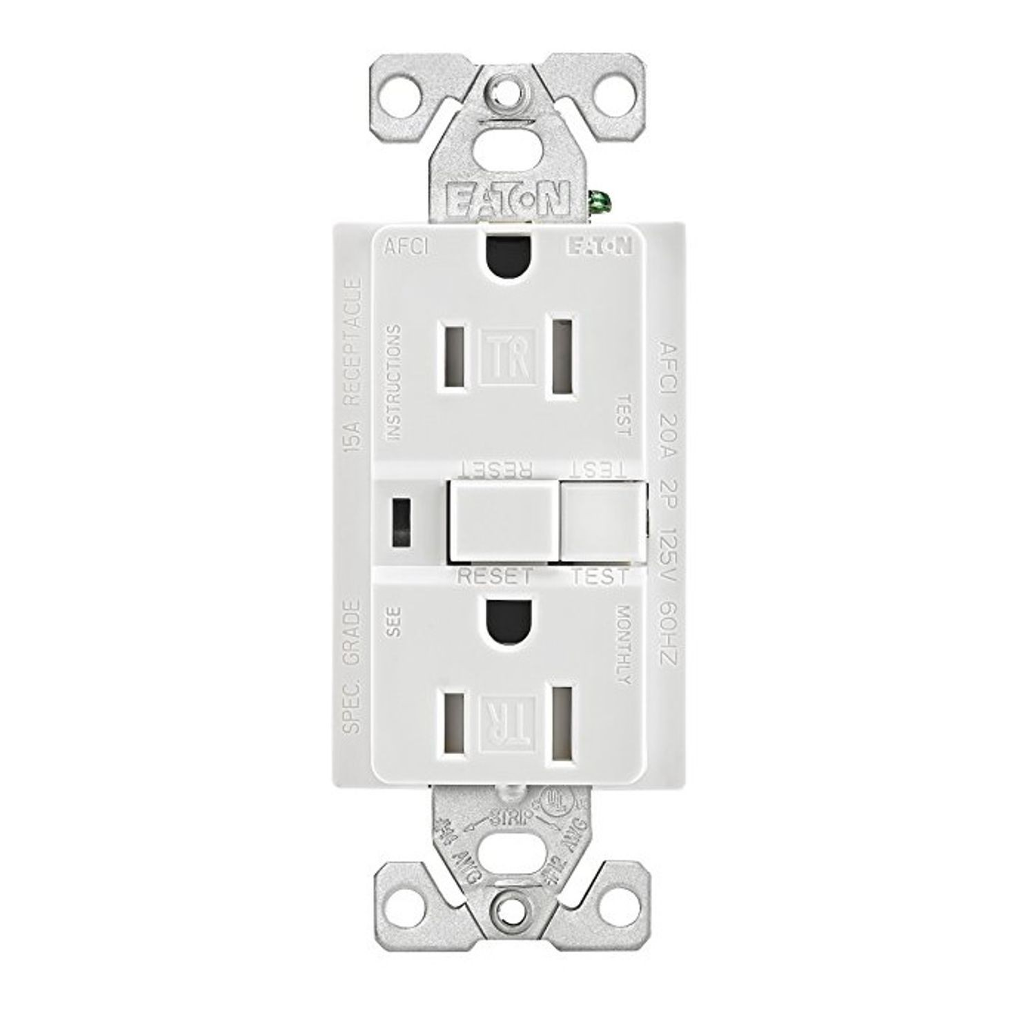 hight resolution of eaton wiring devices trafci15w duplex tamper resistant afci receptacle 125 vac 15 a 2 poles 3 wires white