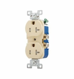 cooper wiring tamper resistant duplex receptacle 125 vac 20 a 2 poles 3 wires ivory state electric [ 1500 x 1500 Pixel ]
