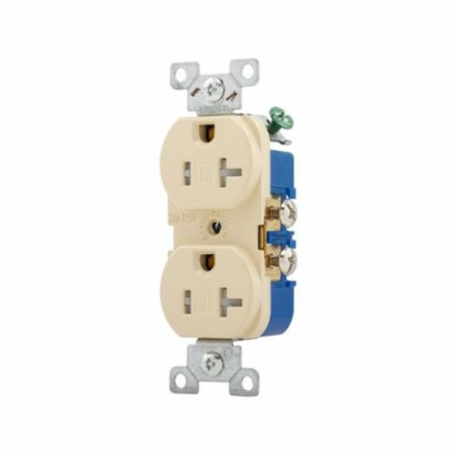 hight resolution of cooper wiring tamper resistant duplex receptacle 125 vac 20 a 2 poles 3 wires ivory state electric