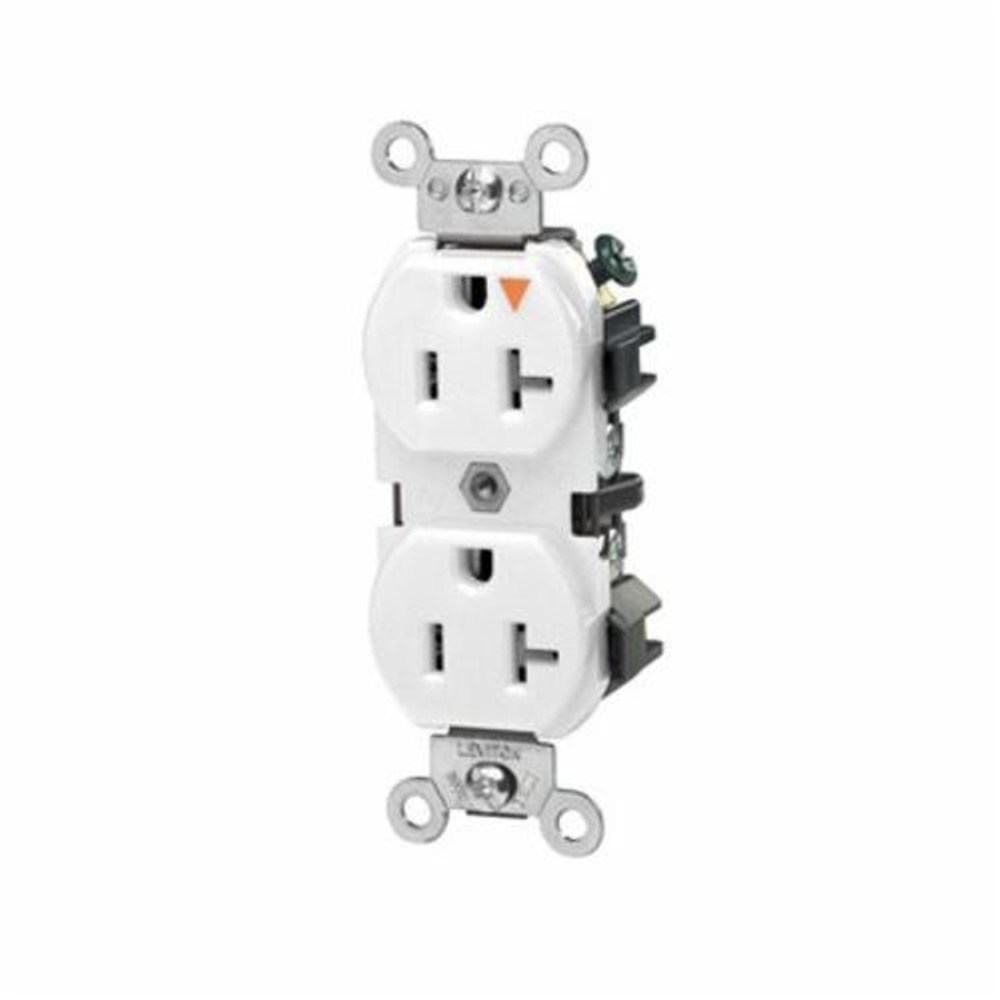 medium resolution of leviton 5362 igw heavy duty isolated ground straight blade duplex receptacle 125 vac 20 a 2 poles 3 wires white state electric