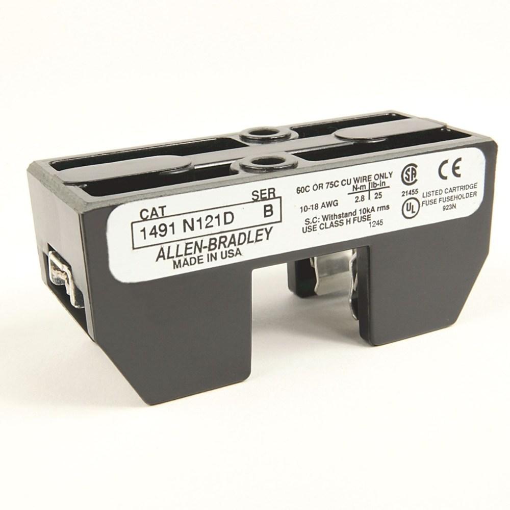 medium resolution of allen bradley 1491 n161 fuse block class h 0 30a 1 pole 600v state electric