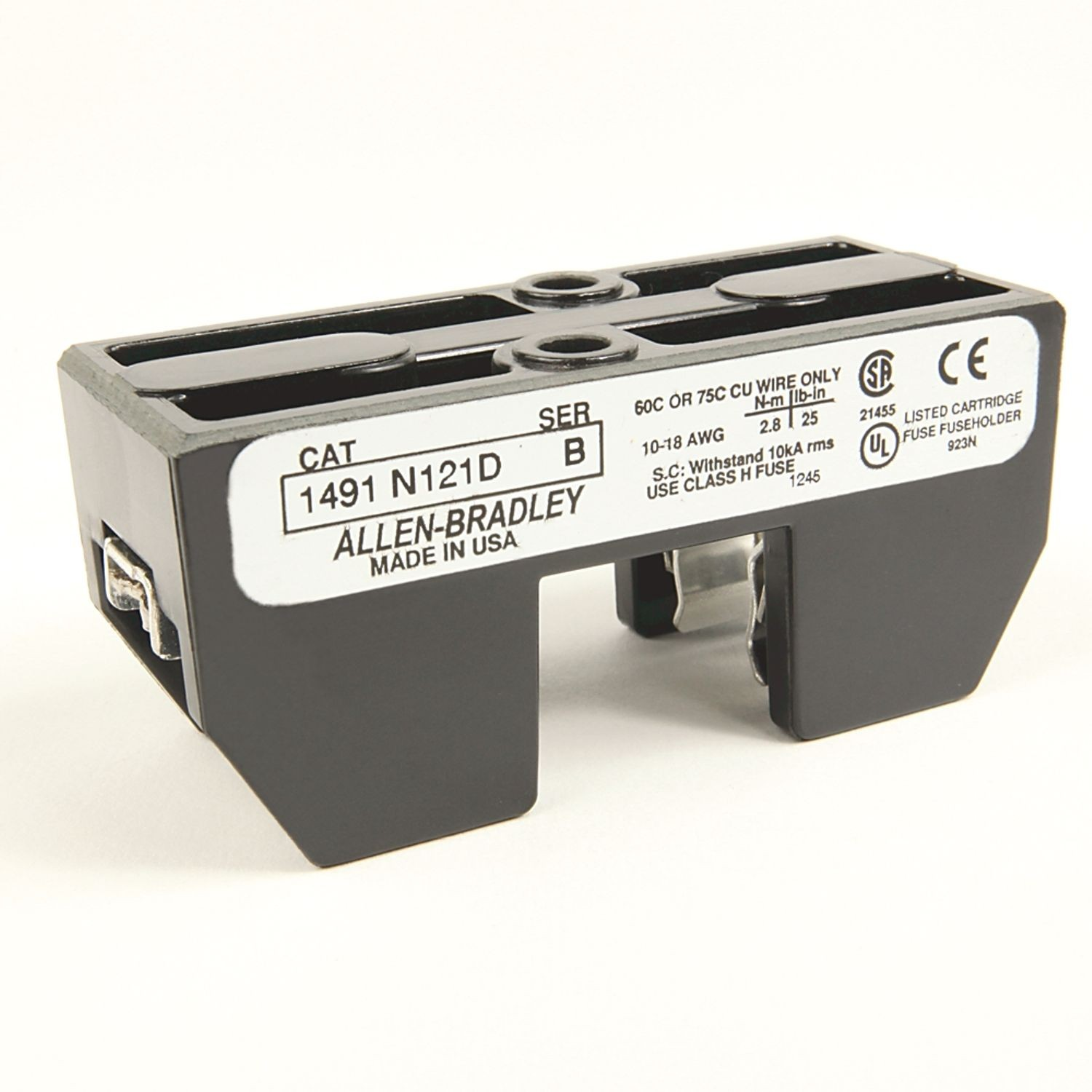 hight resolution of allen bradley 1491 n161 fuse block class h 0 30a 1 pole 600v state electric