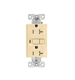 cooper wiring trafci20v duplex tamper resistant afci receptacle 125 vac 20 a 2 poles 3 wires ivory [ 1500 x 1500 Pixel ]