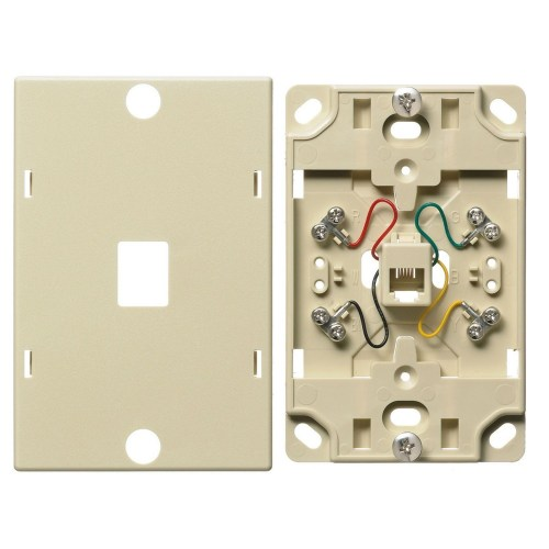 small resolution of premise wiring netselect ns722i 6 position 4 conductor standard telephone wall jack threaded mount electric ivory state electric