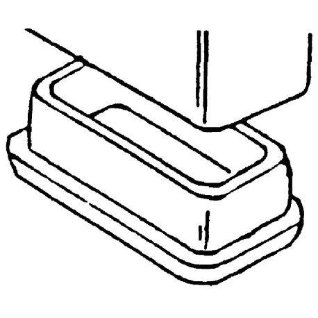 S56 Series Black ABS Rectangular Insert End Cap for 2