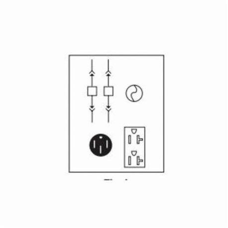 Midwest® U055F Unmetered Power Outlet Panel, 120/240 VAC