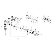 Shower & Bath Valve Parts Triton & Constellation K-7004