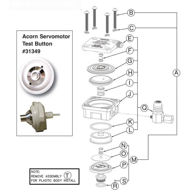 Air-Trol Metering Servo-Motor Assy. Drawing 9955-000-003