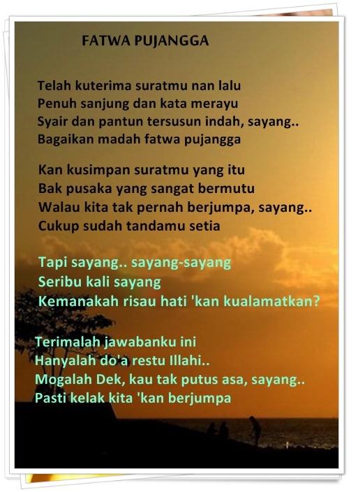 Fatwa Pujangga Lirik : fatwa, pujangga, lirik, Fatwa, Pujangga, (lagu, Melayu, Indah), Kompasiana.com