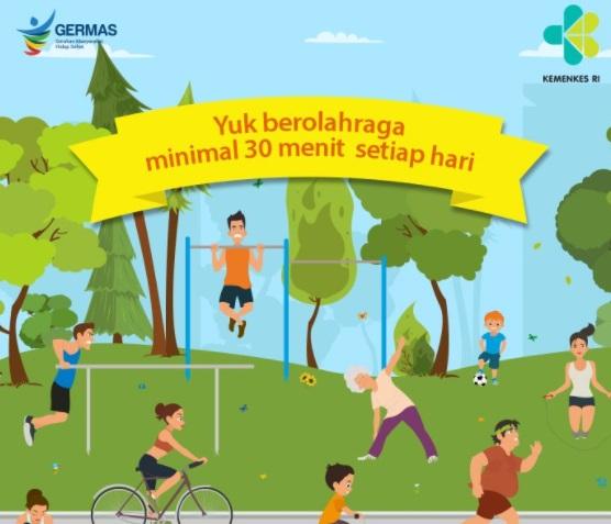 GERMAS Cara Kemenkes RI Mengkampanyekan Pola Hidup Sehat
