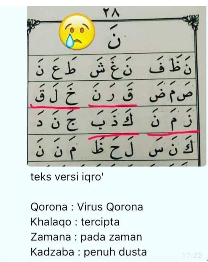 Qorona Bahasa Arab : qorona, bahasa, Koleski, Terbaru, Motivasi, Virus, Corona