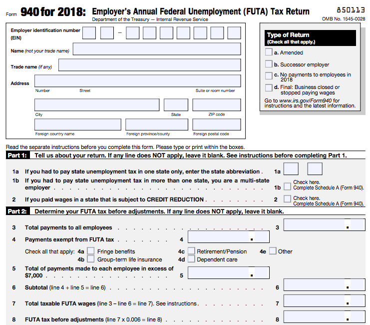 form 940 instructions how