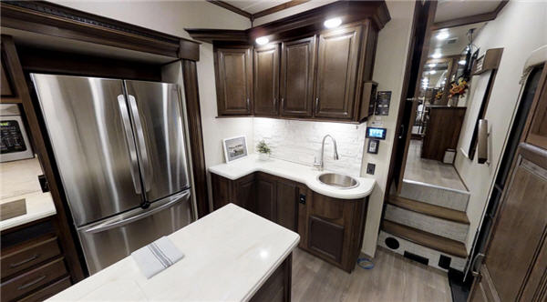 kitchen island with wheels basket palomino columbus 1492 fifth wheel reviews | floorplans ...