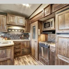 Travel Trailers With Rear Kitchen Pulls For Cabinets New 2018 Keystone Rv Cougar 337fls Fifth Wheel At Olathe ...