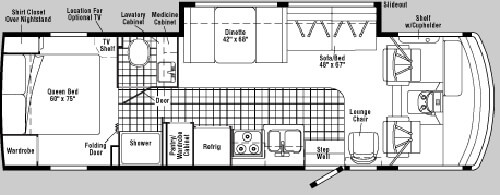 Diagram Of Bunkhouse Used 2003 Winnebago Sightseer 30 B Motor Home Class A At