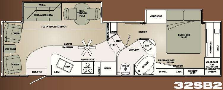 Used 2008 Carriage Cameo F32SB2 Fifth Wheel At General RV