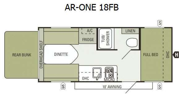 Used 2014 Starcraft ARONE 18FB Travel Trailer at Campers