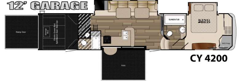 Used 2015 Heartland Cyclone M4200 Toy Hauler Fifth Wheel at Campers Inn  Clarksville IN  19969A