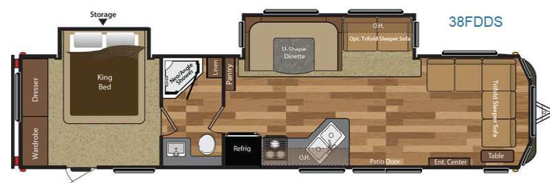 sofa under 20000 how to fit stretch covers new 2015 keystone rv hideout 38fdds park models at moore's ...