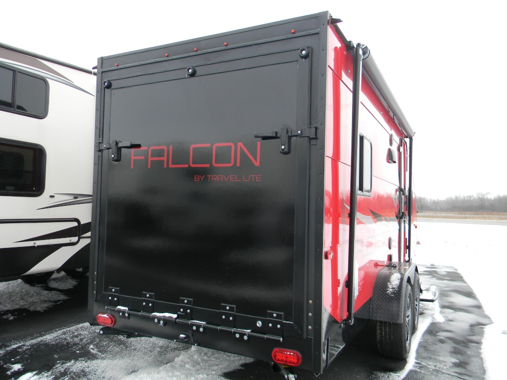 New 2018 Travel Lite Falcon F23TH Toy Hauler Travel Trailer at Minneapolis Trailer Sales