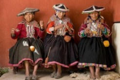 Andean elders from Pitumarca handspinning (photo credit Joe Coca)
