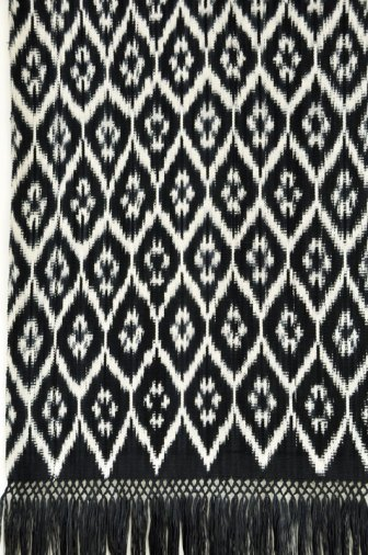 Traditional warp ikat from Ecuador.