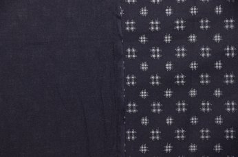 Contemporary printed version of Japanese double ikat. Note: It is not reversible.