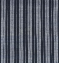Indigo striped cloth, hand woven from organic cotton, at the Lao weaving studio.