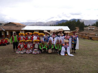 The Sallac Dancers. Ready to perform at Tinkuy!