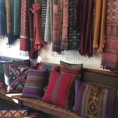 One-of-a kind artisan textiles to wear and for the home.