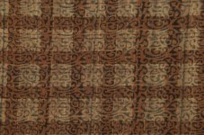 Naturally-dyed with kutch, block printed scroll.