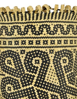 Detail of top loops and woven design.