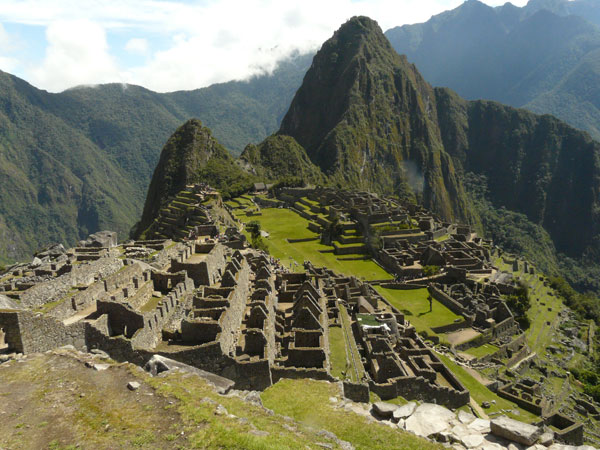 A view of Machu Picchu in the morning hours.