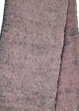 Mokume shibori produces a wood grain effect.