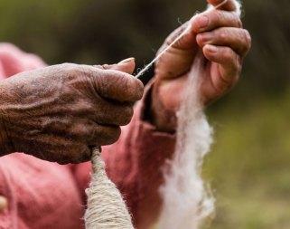 Handspinning (photo credit Jonathan McCarthy)
