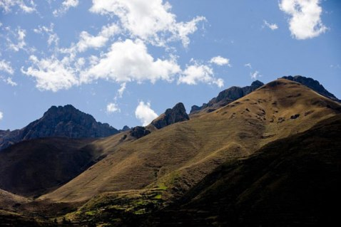 The hillsides above the town of Pitumarca. Pitumarca is located in the southern edge of the Cusco region.