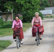 Bicycles are the best way to get around Kihnu.