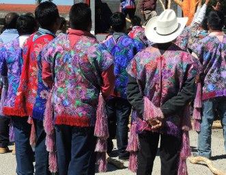 "These are ""older"" tunics worn on ""raising the jaguar tree"" day."