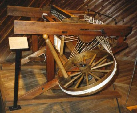 It took 10-30 hand spinners to keep one weaver busy before the invention of the Spinning Jenny in 1764.