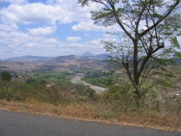 El Salvador countryside.
