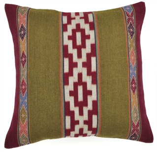 Embroidery and watay (huatay) used together in the Huatay Peruvian Collection.