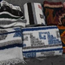 Handspun wool blankets from Momostenango