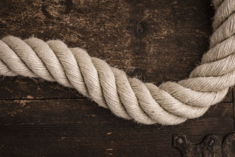 Rope made of hemp fiber.